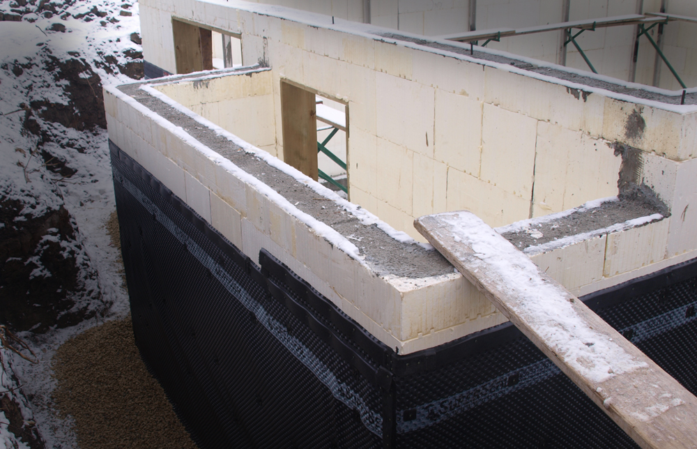 Technology energy efficient homes for Concrete foam walls